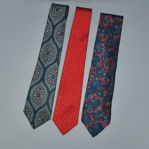 Vintage Christian Dior Necktie Bundle of 3 Ties
